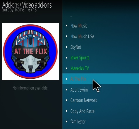 How to Install At The Flix Kodi Add-on New Cover Pic Step 17