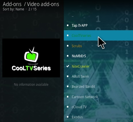 How To Install Cool TV Series Kodi Addon Step 17