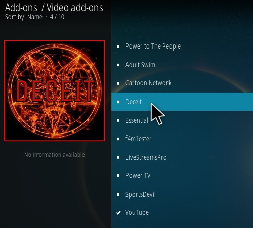 How To Install DECEIT Kodi Addon New V 105 Step 17
