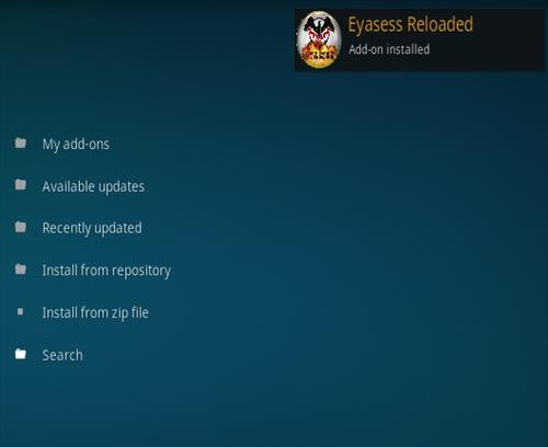 How To Install Eyasess Reloaded Kodi Addon Step 12