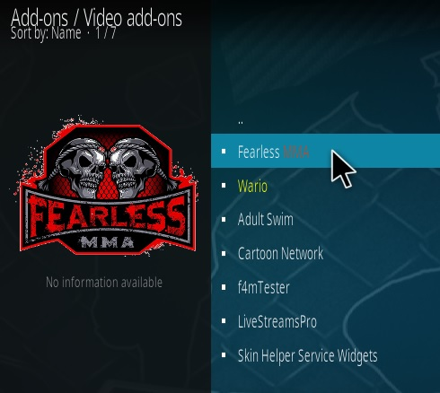 How To Install Fearless MMA Kodi Addon Step 17