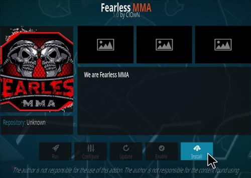 How To Install Fearless MMA Kodi Addon Step 18
