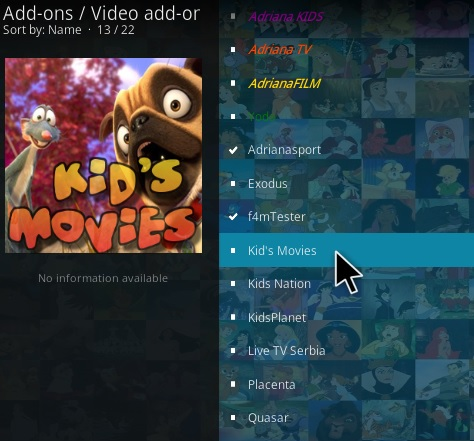 How To Install Kids Movies Kodi Addon Step 17