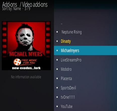 How To Install Michael Myers Kodi Addon Step 17