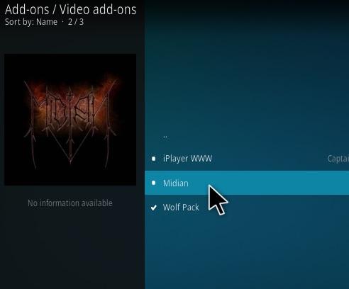 How To Install Midian Kodi Addon Step 17