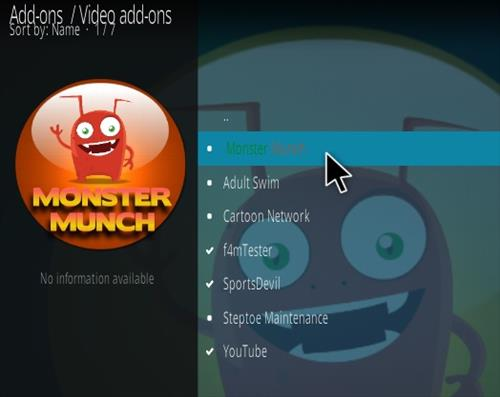 How To Install Monster Munch Kodi Addon Updated Step 17