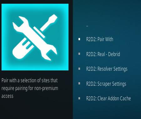 How To Install R2D2 Kodi Addon Setting 1