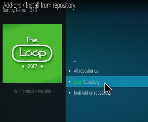 How To Install The Loop Kodi Addon Step 15