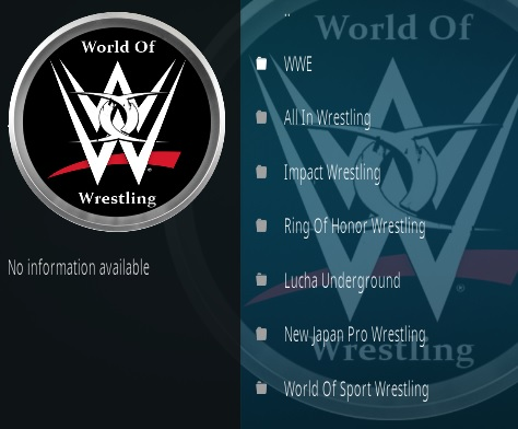How To Install World of Wrestling Kodi Addon Overview