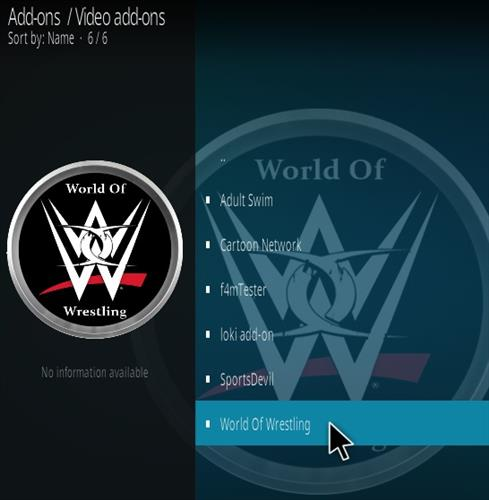 How To Install World of Wrestling Kodi Addon Step 17