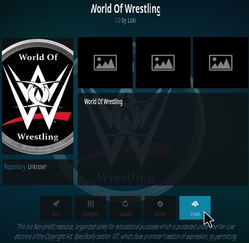 How To Install World of Wrestling Kodi Addon Step 18