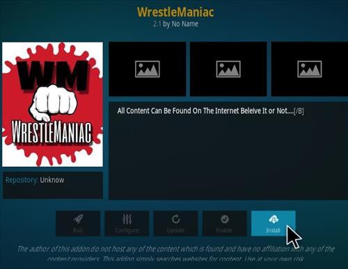 How To Install Wrestle Maniac Kodi Addon New 1 777 Step 18