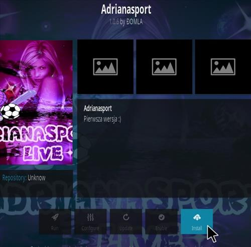How to Install Adriana Sport Kodi Addon Step 19