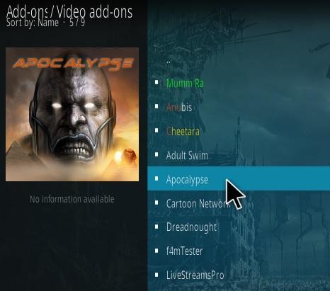 How to Install Apocalypse Kodi Addon Step 17