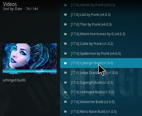 How to Install Cybergirl Kodi Build Step 21