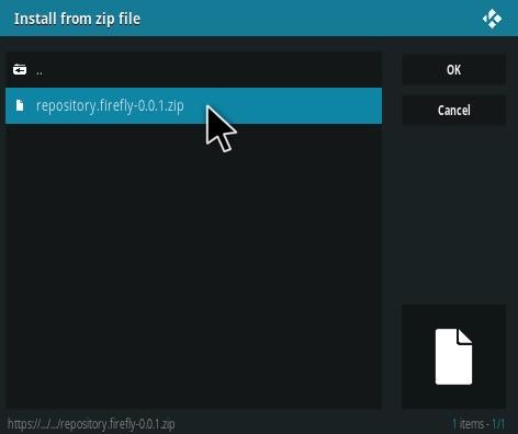 How to Install Firefly Kodi Addon Step 12