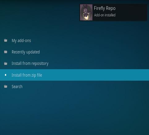 How to Install Firefly Kodi Addon Step 13