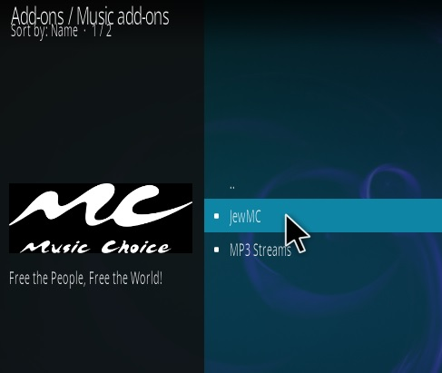 How to Install JewMC Kodi Music Addon Step 17