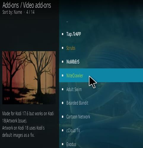 How to Install NightCrawler Kodi Addon Step 17