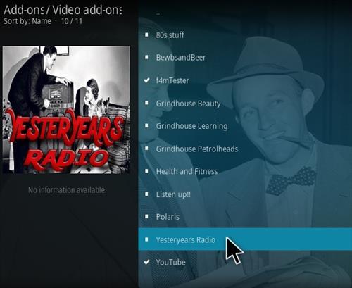 How to Install YesterYears Radio Kodi Music Addon Step 17