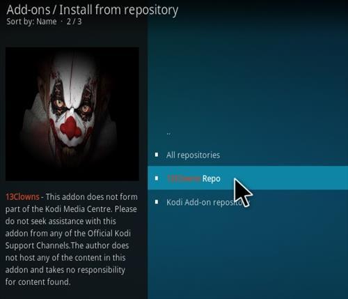 How To Install 13 Clowns Kodi Video Addon Step 15