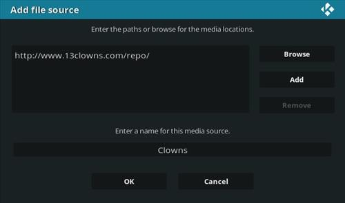 How To Install 13 Clowns Kodi Video Addon Step 7
