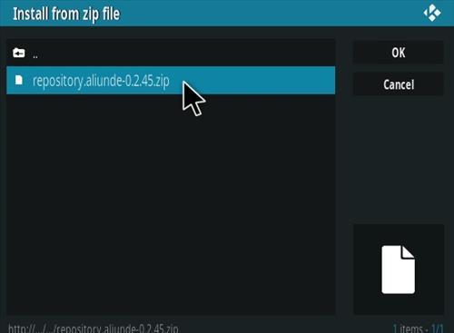 How To Install Aliunde Kodi Addon New V URL Step 12