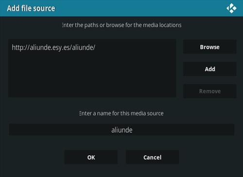 How To Install Aliunde Kodi Addon New V URL Step 7
