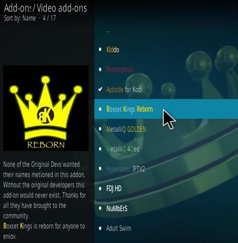 How To Install Boxset Kings Reborn Kodi Addon Step 17