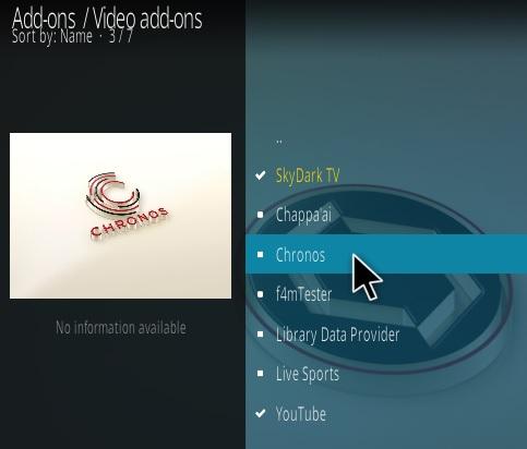 How To Install Chronos Kodi IPTV Addon New 7777 Step 17