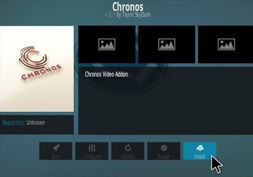 How To Install Chronos Live TV Addon Step 18