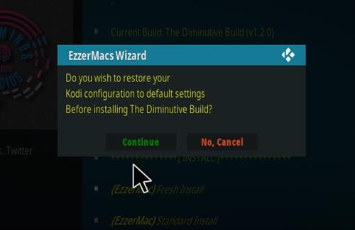 How To Install Diminutive Kodi Build Step 24