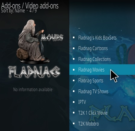 How To Install Fladnag Movies Kodi Addon New URL T2K Step 17
