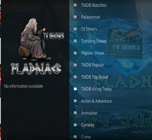 How To Install Fladnag TV Shows Kodi Addon Overview