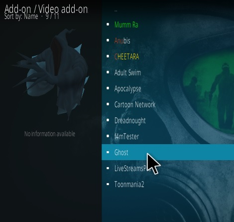 How To Install Ghost Kodi Addon V 2.0 step 17