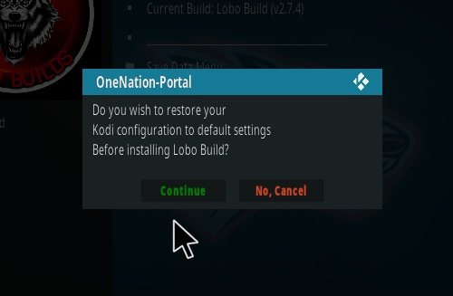 How To Install Lobo Kodi Build Step 23