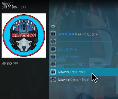 How To Install Maverick 18 Kodi Leia Build Step 23