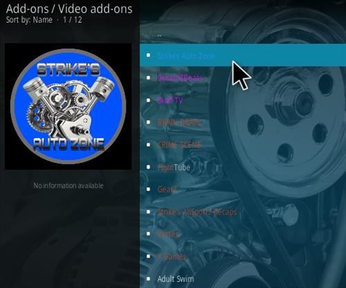 How To Install Strikes Auto Zone Kodi Addon Step 17