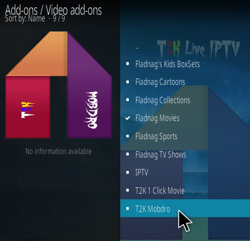 How To Install T2K Mobdro Kodi Addon Step 17