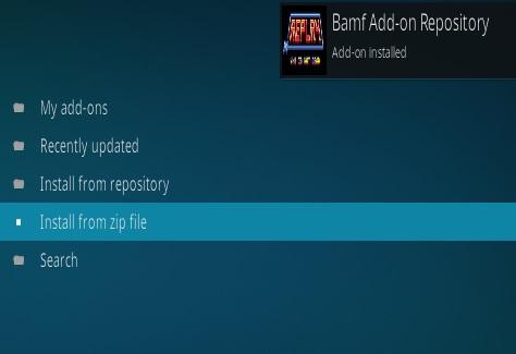 How to Install Bamf Kodi Repo and Addon Step 13