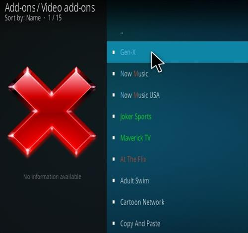 How to Install Gen-X Kodi Add-on Step 17