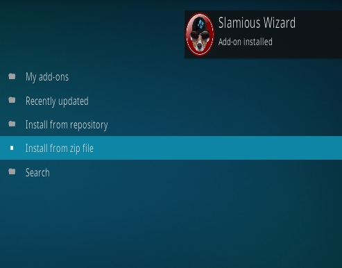 How to Install Slamious 17 Kodi Build Step 13