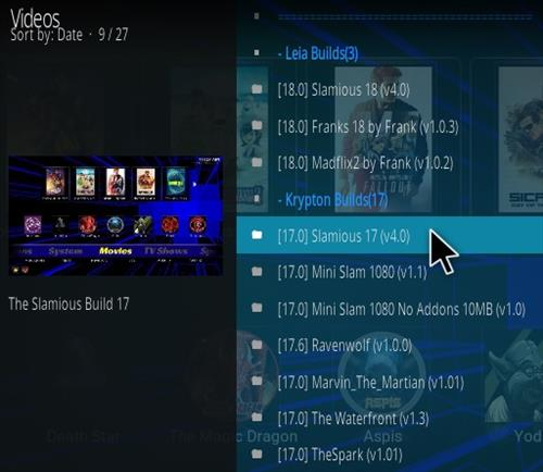 How to Install Slamious 17 Kodi Build Step 17