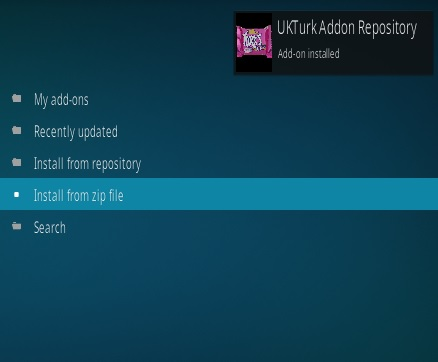 How to Install UK Turk's Playlists Kodi Addon V 108 Step 13