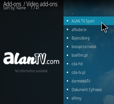 How To Install Allan TV Sports Kodi Addon Step 17