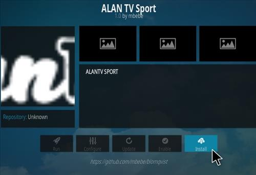 How To Install Allan TV Sports Kodi Addon Step 18