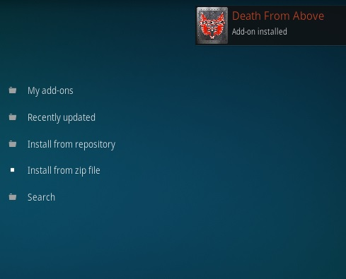 How To Install Death From Above Kodi Addon Step 12