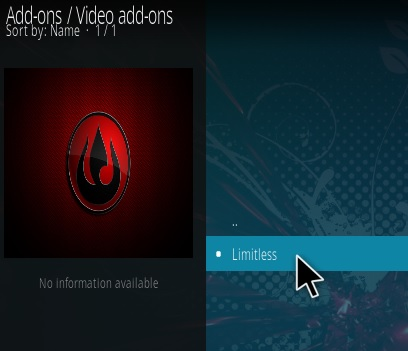 How To Install Limitless Kodi Addon Step 17