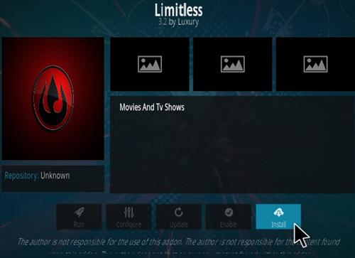 How To Install Limitless Kodi Addon Step 18