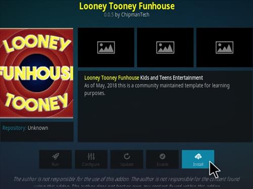 How To Install Looney Funhouse Tooney Kodi Addon V028 Step 18